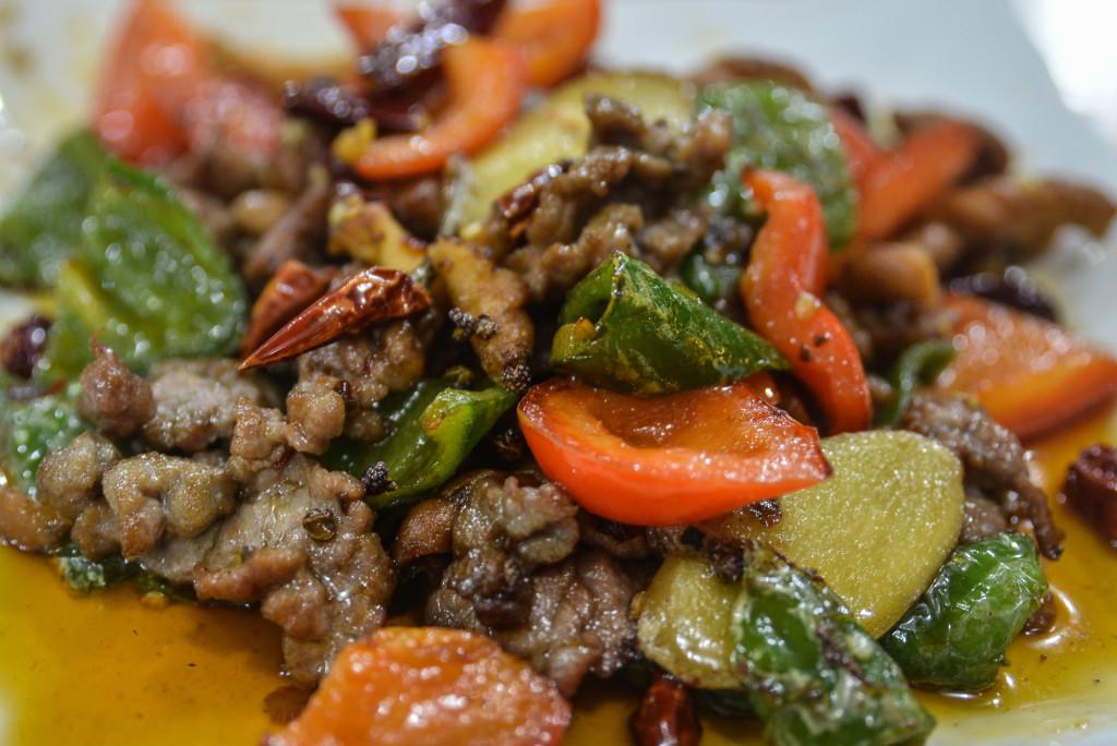 beef fried with pretzel chengdu (1 of 1)