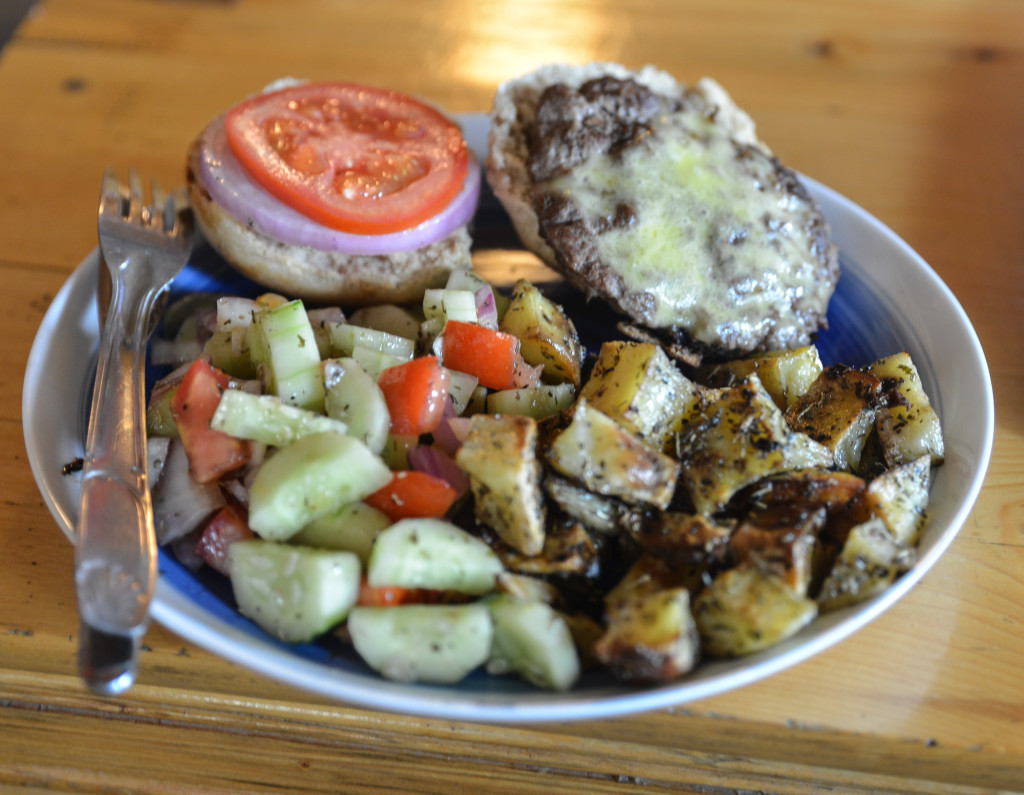 Yak burgers: surprisingly tasty.