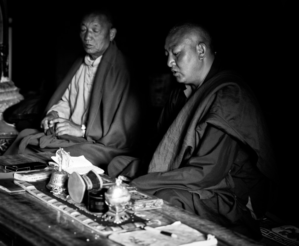 Monks at the Paoma monastery.