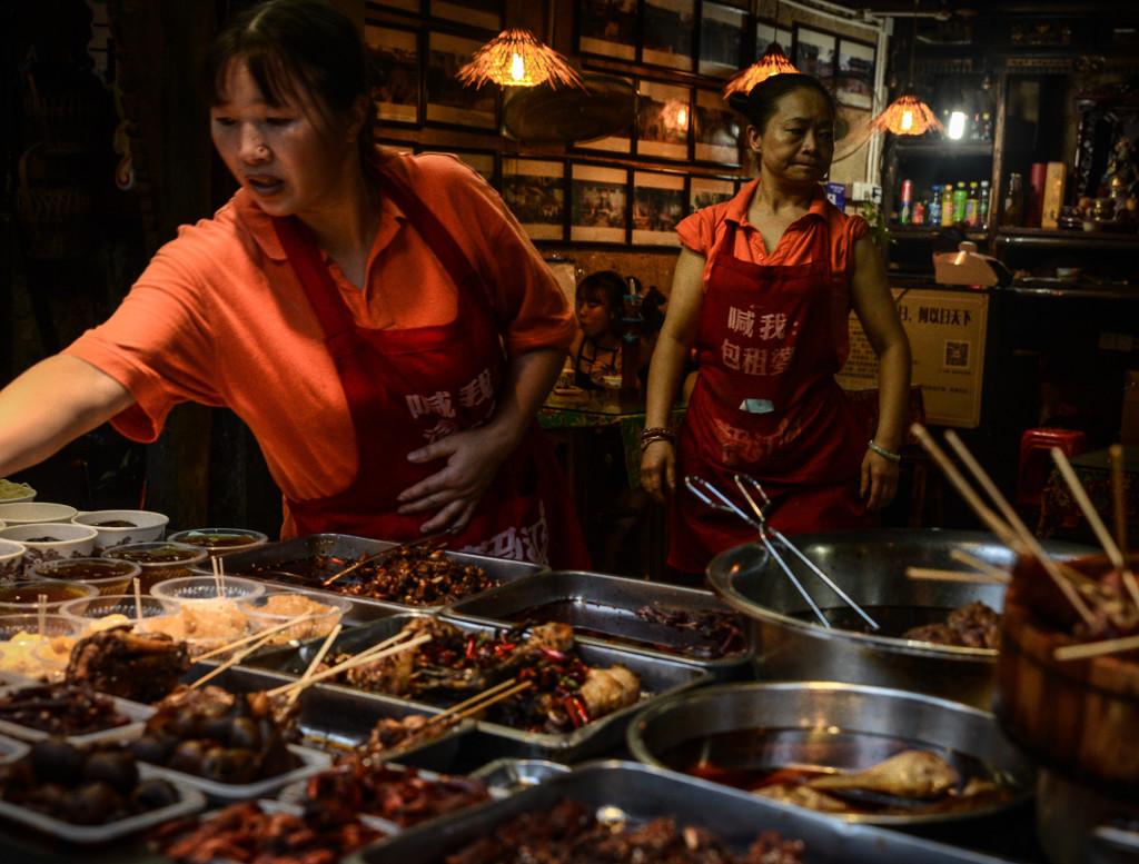 Snack ladies in Chengdu.