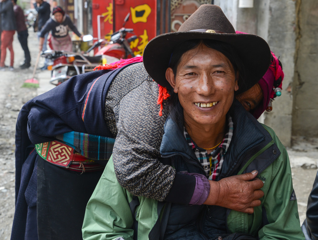 Tibetans in Tagong.