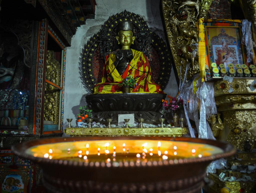 Candles at the Tagong Monastery.