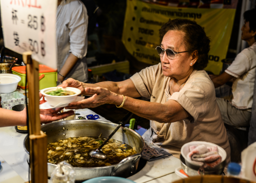 Soup seller at the Saturday Night Market.